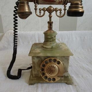 昭和レトロ 大理石 ダイヤル式 電話機
