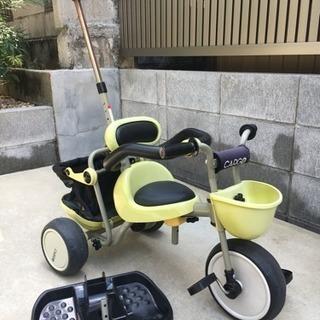 【使用した感想付】アイデスカーゴ 三輪車 舵取り棒 足置き 安全バー付