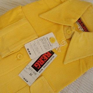 未使用 ミズノ 黄色のコーデュロイシャツ
