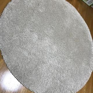 (交渉中)IKEA 円形ラグ オードゥム(直径130cm)オフホワイト