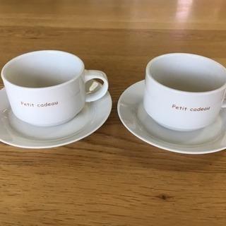 【ティーカップ&ソーサー2客セット】ペアカップ(Petit ca...