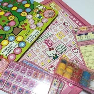 BANDAIハローキティ ドンジャラ 懐かしいボードゲーム
