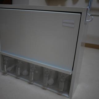 ステンレス製スパイスラック 幅46.5高さ40cm  カラー白