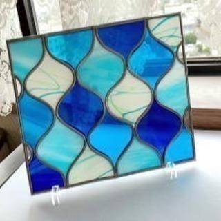 グラスアート で作る幾何学模様のガラスフレーム