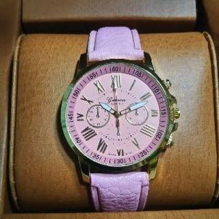 腕時計 レディース ライトピンク
