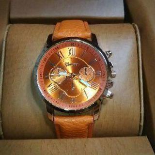 腕時計 レディース オレンジ