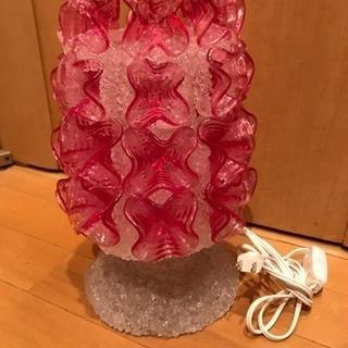 クリアロン 花びらが豪華な照明 (約)幅20×高さ31cm…