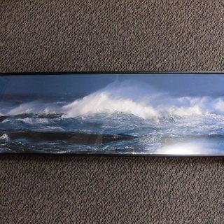 荒れた海の写真額