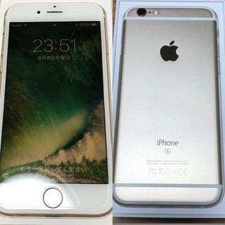 iPhone 6S 64GB ゴールド SIMフリー 美品 格安SIMに