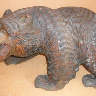 置物 木彫り熊 木製 熊彫 お部屋にクマの息吹を◆アイヌの魂