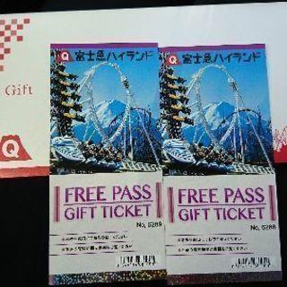 富士急ハイランド フリーパスチケット(2名分)
