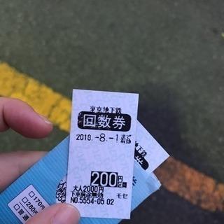 ・東京メトロ(東京地下鉄) 回数券 200円区間