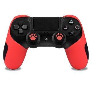 保護カバー PS4コントローラー用  ティック カバー (レッド...