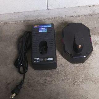 コードレスインパクトレンチのバッテリー、充電器セット