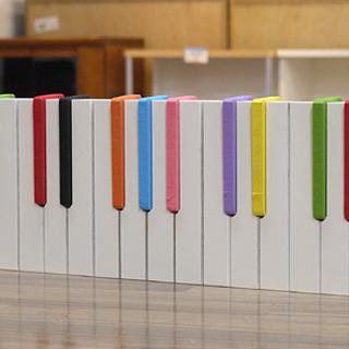(Y)北大前! 札幌 引取 ピアノ鍵盤デザイン壁掛けハンガーフック...