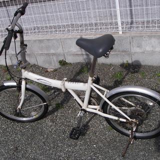 20インチ 折り畳み自転車 6段変速ギア(中古)