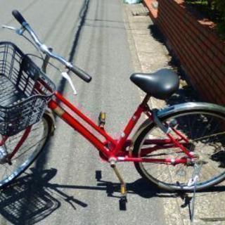 中古自転車 レッド