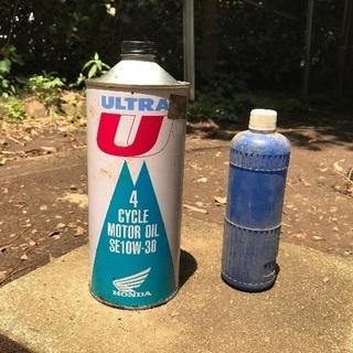 エンジンオイルとバッテリー補充水?