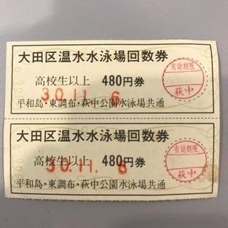 大田区温水プール券9枚