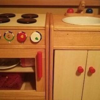 木製子供用キッチン2個セット 値下げしました。最終です。