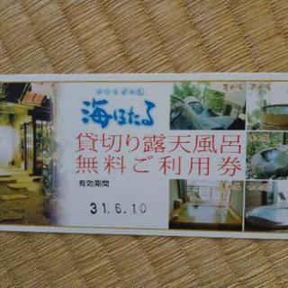 ホテル竜宮貸切露天風呂無料利用券