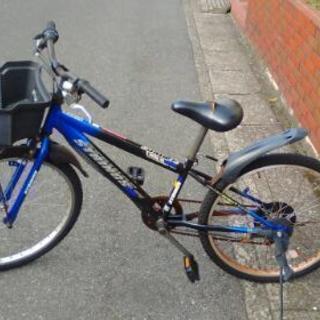 中古自転車 24インチ 青 ギアあり