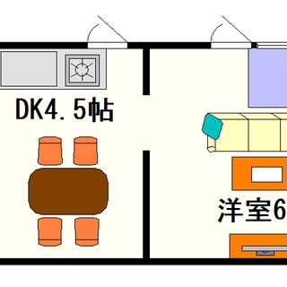 【ガーデンフィールド】2号タイプ!1DKタイプ!桜川駅が徒歩1分...