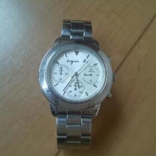直営店購入 アニエスb クロノグラフ 腕時計 agnes b. ...