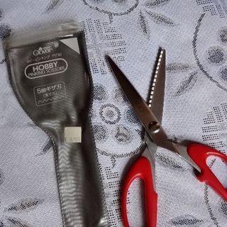 未使用品 クロバー🍀ピンキングハサミ はさみ 手芸 洋裁 ハンドメイド