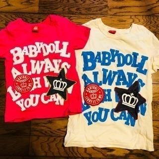 BABYDOLL Tシャツ2枚セット