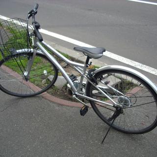 札幌 シティサイクル 27インチ 6段変速 シルバー 自転車 ア...