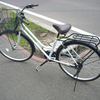札幌 シティサイクル 26インチ 6段変速 ホワイト 自転車 ア...