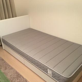 フランスベッド / シングルベッド+マットレス(保証書付き)
