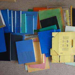 コクヨなど事務用ファイル・書類BOX・クリアファイルなど25点以上...