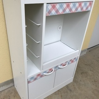【リサイクルサービス八光 配達設置OK】かわいい食器棚