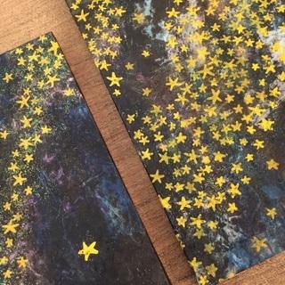 伴野加代子 銅版画・コラージュ展「空の花 陸の星」