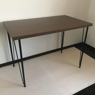 テーブル 机 パソコンデスク ブラウン アイアン 美品