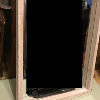 白 木縁 シャビー 鏡