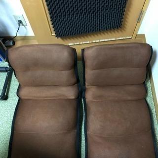 アイリスオーヤマの座椅子2個セットです。
