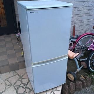 中古 冷蔵庫 シャープ SJ-14P-H 2ドア 左右開き 13...
