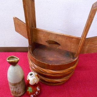 昭和レトロ ディスプレイ用 木桶/徳利/お酒