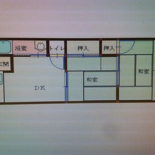 2DK  賃料36000 共益6000円 シンプルできれいなお部屋...