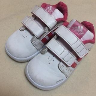adidas スニーカー キッズ 13cm ピンク アディダス 女の子