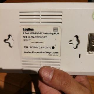 logitec ハブ LAN-SW08P/PB 8ポート電源内蔵 の画像