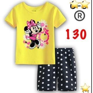 ミニーちゃんパジャマ セットアップ 130
