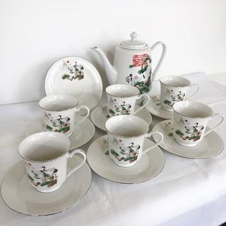 【アウトレット未使用品‼️】中国唐山特産品 高級茶具 カップ&ソ...