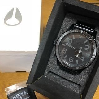 【美品】NIXON ゴツカッコ良い腕時計【オールブラック】