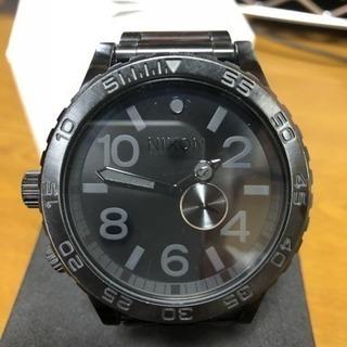【オールブラック】NIXON ゴツカッコ良い腕時計【美品】