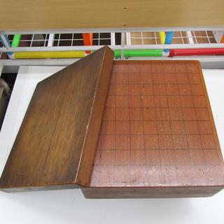 宮の沢店 将棋盤 蓋付 木製 脚付き 盤の厚さ11.5cm