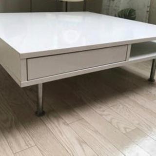 ホワイト大きめローテーブル 5000円
